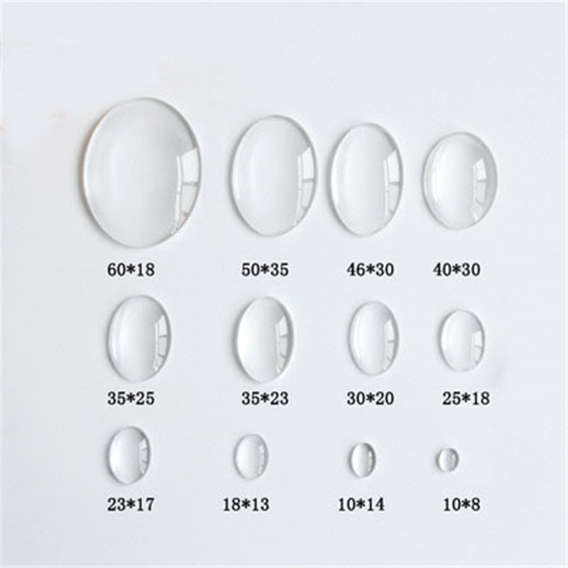 1pack 13x18mm 18x25mm 30x40mm Oval Glass Cabochon Cameo Transparent Clear Flat Back Crystal Cabochon For Diy Jewelry Making 1 pair fit 18x25mm oval shape glass cabochon zinc alloy dangle earrings hooks cabochon base setting diy jewelry findings making
