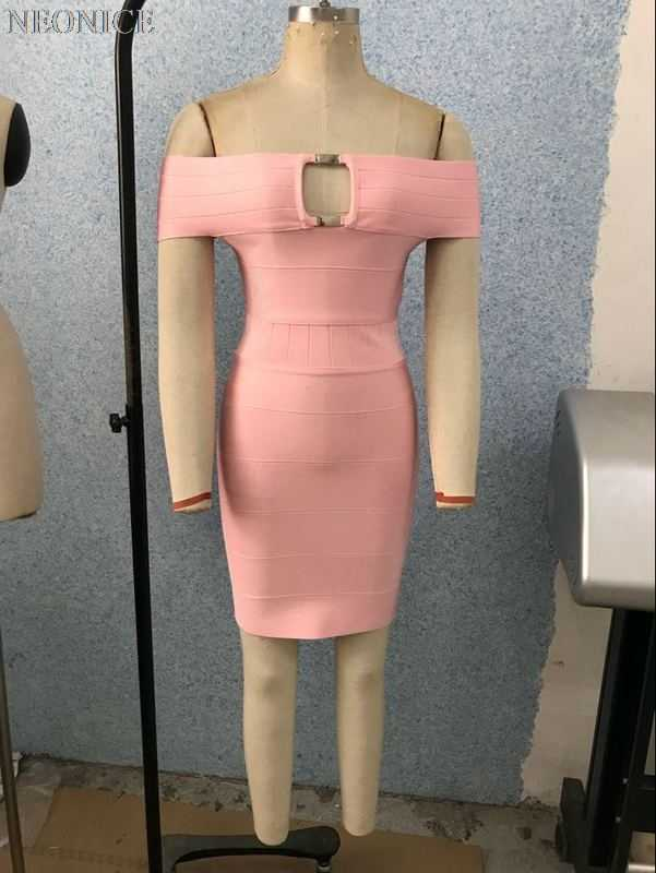 2019new эластичное Бандажное платье плотно ночной клуб светская день рождения модные, пикантные Вышивка крестом пакет бедра досуг плечо Розовый выдалбливают