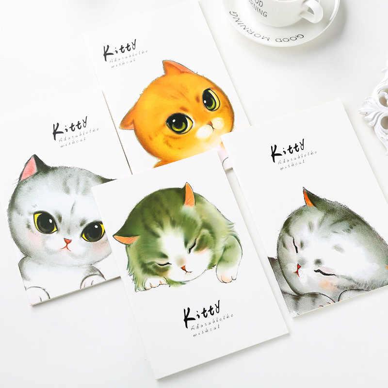 4 สีการ์ตูนกระดาษน่ารัก Cat กระดาษ A5 นักเดินทางโน้ตบุ๊ค Planner Agenda Diary Stationery Store
