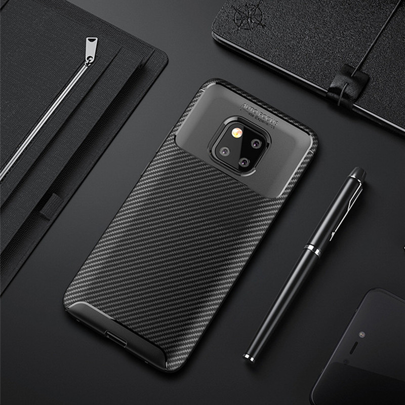 Carbon Fiber Soft Phone Cover For Huawei Mate 20 Pro