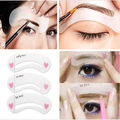 MOONBIFFY 3 estilos/set Grooming Kit Stencil Shaping DIY Beauty Sobrancelha Template Make Up Ferramenta