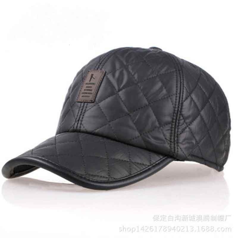 JTVOVO Big bone bright leather baseball cap men autumn winter Russia thicker Caps casquette Hats warm earmuffs hat man ski cap aetrue knitted hat winter beanie men women caps warm baggy bonnet mask wool blalaclava skullies beanies winter hats for men hat