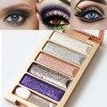5 color style  Eye Shadow Diamond glitter Eyeshadow Palette Makeup Set professional naked colors cosmetics  Smoky Eyes