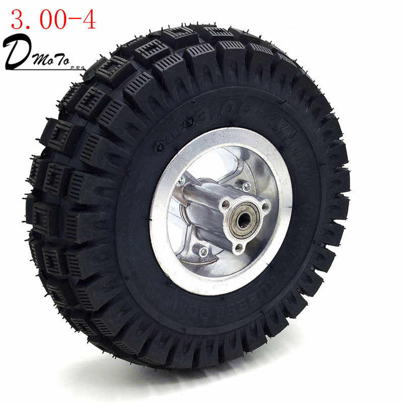 3.00-4 Electric Scooter Front Wheel with  tyre Alloy Rim hub and inner tube wheels Gas scooter bike motorcycle