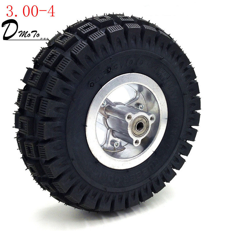 <font><b>3.00</b></font>-<font><b>4</b></font> Electric Scooter Front Wheel with tyre Alloy Rim hub and inner <font><b>tube</b></font> wheels Gas scooter bike motorcycle image