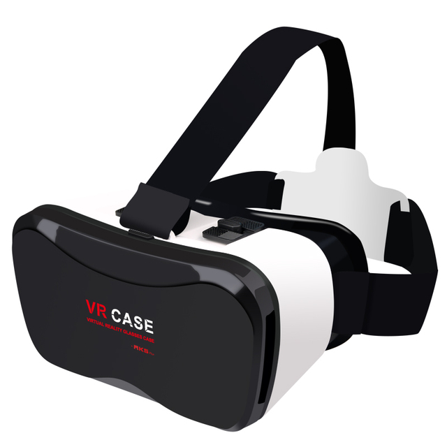 "Head Mount Plastic PVC VR BOX 5.0 Plus Version Virtual Reality 3D Glasses for 4.0"" - 6.3"" Smart Phone and + Remoter"