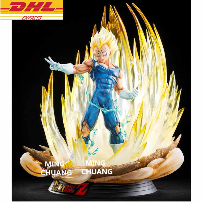"20.47""Statue Dragon Ball Saiyan Bust Vegeta 1:4 Full-Length Portrait With LED Light GK Action Figure Collectible Model Toy D900"