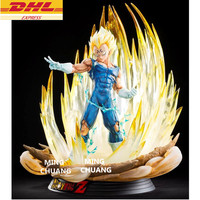 20.47Statue Dragon Ball Saiyan Bust Vegeta 1:4 Full Length Portrait With LED Light GK Action Figure Collectible Model Toy D900
