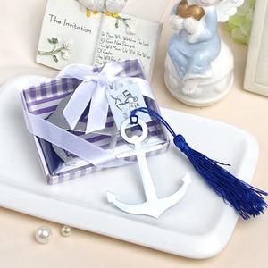 Image 3 - 結婚式のプレゼントゲスト航海テーマアンカーブックマークパーティー好意のギフト 50 ピース/ロットパーティー装飾ビジネスイベントお土産