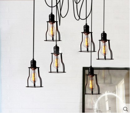 Nordic Retro Style Loft Industrial Vintage Lamp Edison Pendant Light  Fixture Lighting Hanging Lights Lampen Lamparas De Techo In Pendant Lights  From Lights ...