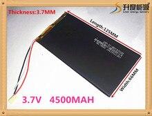 Free shipping 4500mah lithium polymer 3766125 3.7 V tablet battery V811 812 battery Pocket PC PDA Battery