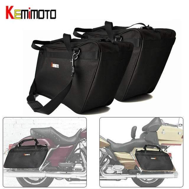 Kemimoto Pelana Tas Alat Motorcycle Kantong Liners untuk Tur untuk Kawasaki Vulcan untuk Kemenangan 2009-2016 Visi