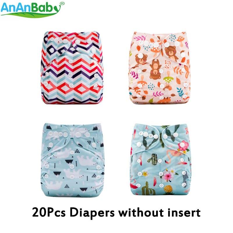 1ad4bc60cca2 AnAnBaby 20 piezas por lote nuevos diseños populares pañal de tela bebé  pañales lavables reutilizables sin inserciones