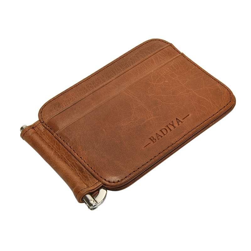 Genuine Leather Clutch Wallet Men Credit Card & ID Holders Fame Compact Purse Cash Women Card Holder Sleeve