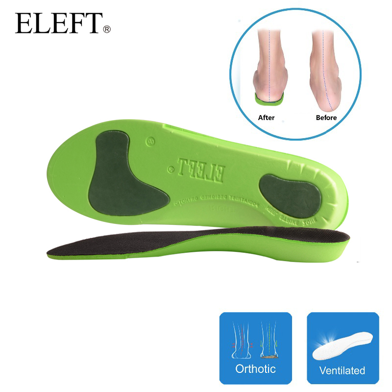 ELEFT EVA orthotic Insoles Shock Absorption soft Comfortable insoles for Arch Support orthopedic insoles men and women