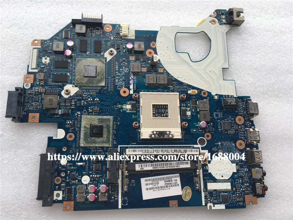 Aliexpress Com   Buy Mbrcg02006 P5we0 La 6901p Laptop Motherboard For Acer Aspire 5750 5750g Mb