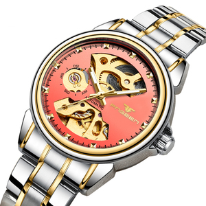 Image 2 - 2019 יוקרה נקבה שעון אוטומטי מכאני עסקי שעון גבירותיי שעונים עמיד למים חלול ורוד מכונאי שעון לנשים מתנה