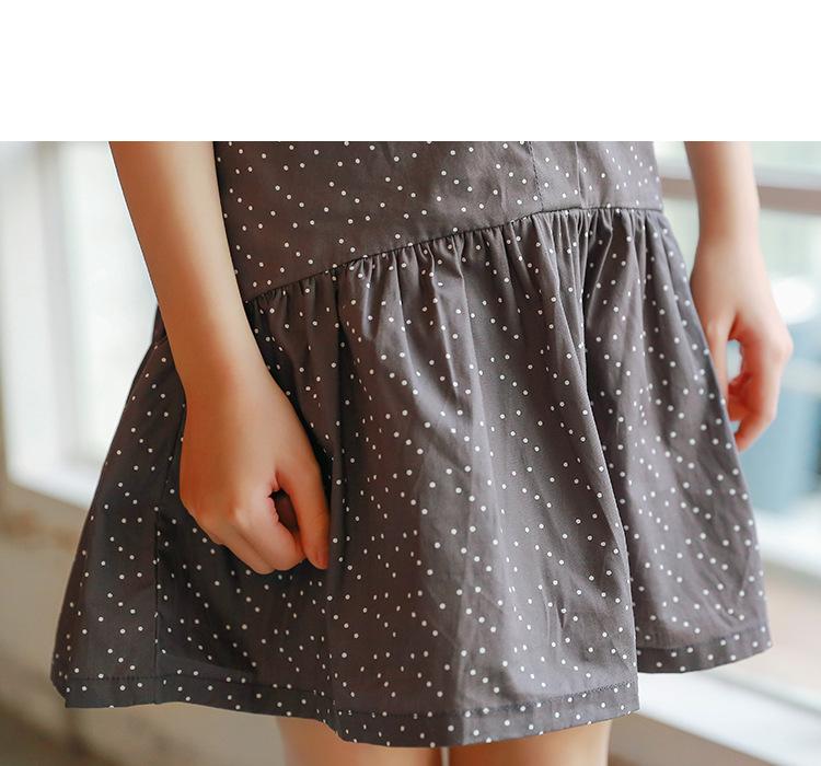 new fashion 2017 girl dress ruffles preppy style kids dresses for girls children school clothing dot short sleeve children dresses girls 2017 summer dresses kids clothes (16)