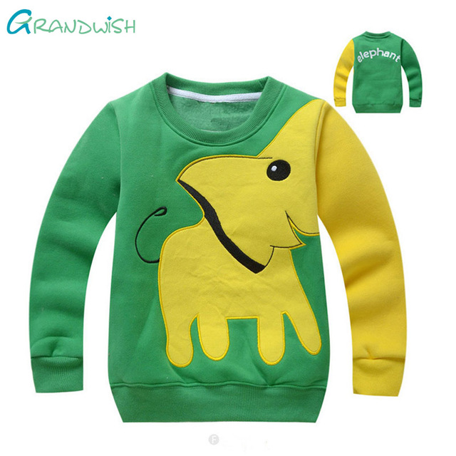 Grandwish Cartoon Printing O-Neck Hoodies for Boy Children's Spring Cotton Sweatshirt Boys Autumn Sports Shirts 18M-5T,SC890
