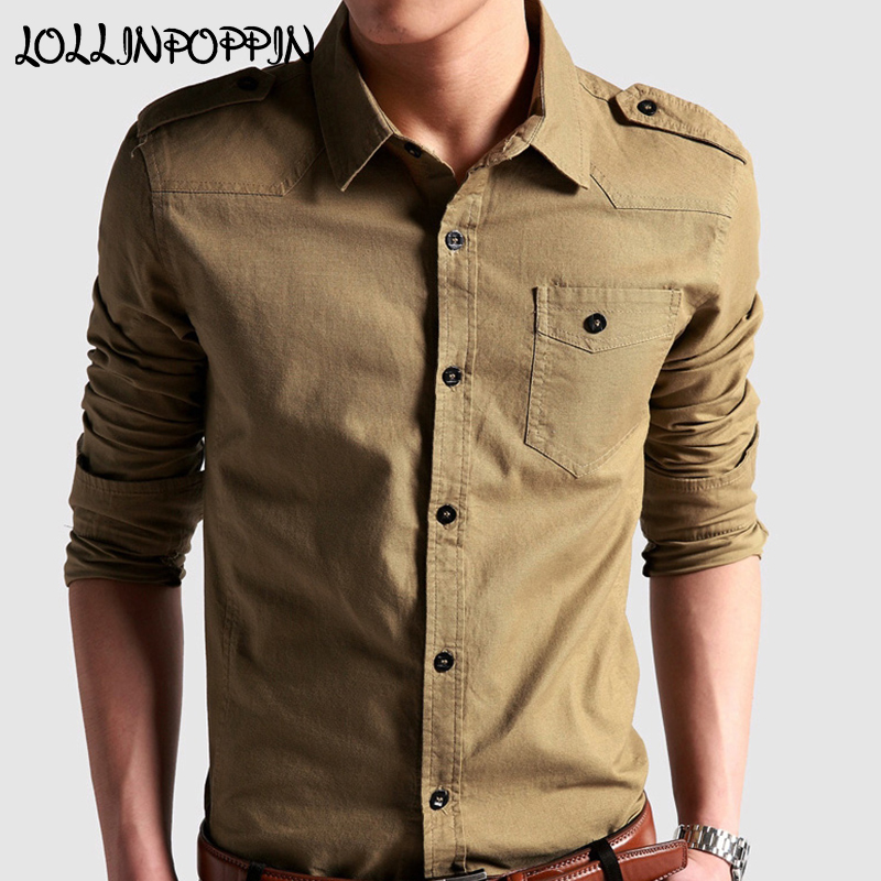 Men/'s Army Military Epaulet Casual Dress Shirt Short Sleeve Cotton Shirts Jacket