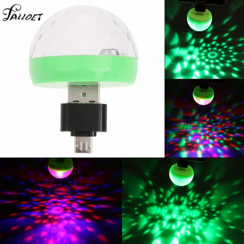 USB led Party Disco Ball Light Portable Crystal Magic Ball Home Party Karaoke Decorations Colorful Stage LED Disco Lights  цена и фото