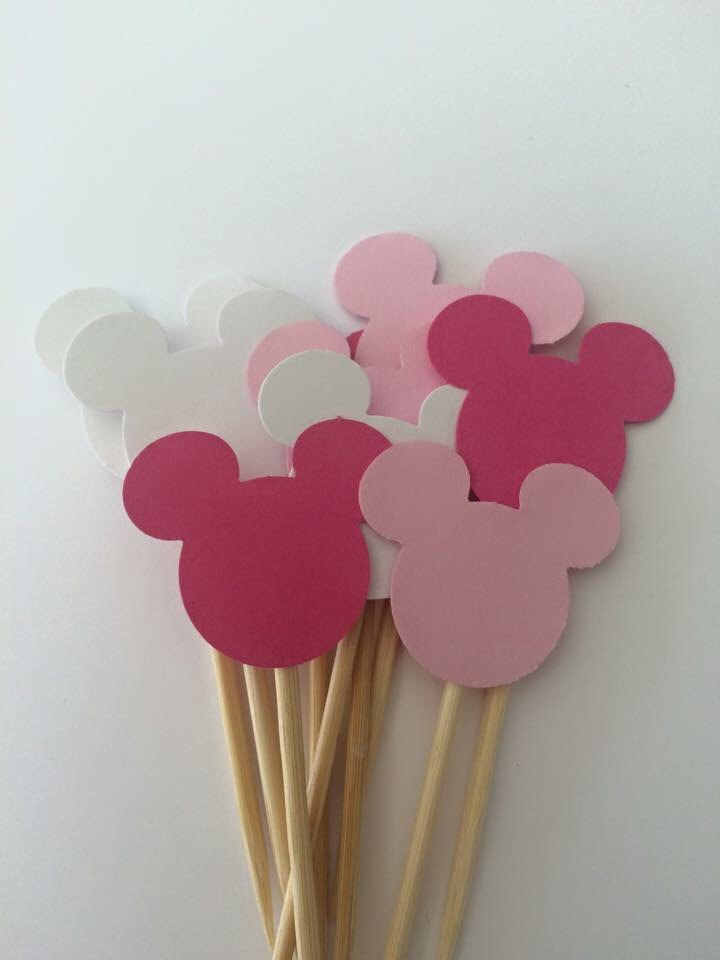Cool 20Cps Mickey Mouse Cupcake Toppers Minnie Mouse First Birthday Funny Birthday Cards Online Inifofree Goldxyz
