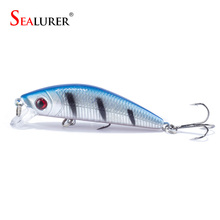 Brand Lifelike 3D Eyes Minnow Fishing Lure 7CM 8 5G 6 Hooks Fish Wobbler Tackle Crankbait