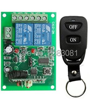 New DC12V 2CH 10A wireless remote control switch system teleswitch 1X Transmitter + 1X Receiver relay smart house z-wave