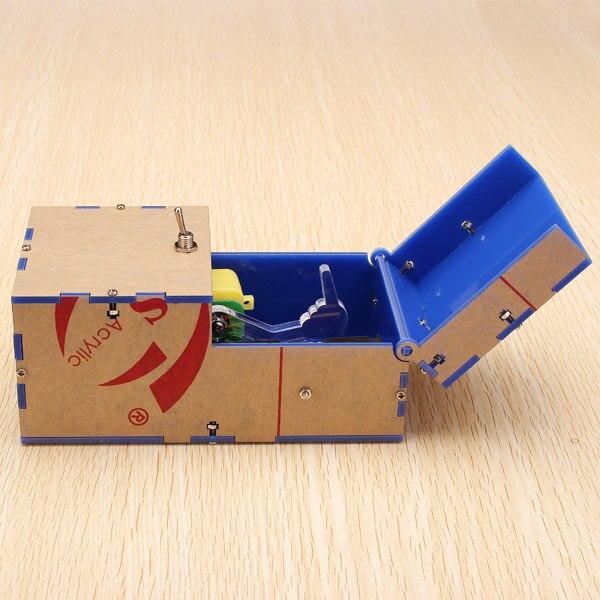 Caixa inútil kit diy máquina inútil presente de aniversário brinquedo geek gadget gags piada jogo amplo complicado brinquedos diversão escritório casa decoração da mesa