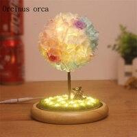 Креативные романтические Дерево желаний лампы, чтобы отправить день рожденье подруги подарок на день рождения, День Святого Валентина, веч