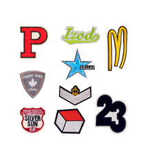 Fashion Letter P M Blue star Dallas Silver sun Patches Iron On Or Sew Fabric Sticker For Clothes Badge Embroidered Appliques DIY(China)