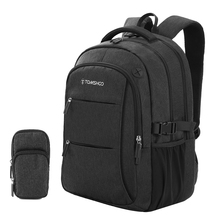 TOMSHOO Anti-theft Bag Travel Backpack for Men Women Large Capacity Laptop College Student School Shoulder Bag  Fits 15.6 Inch