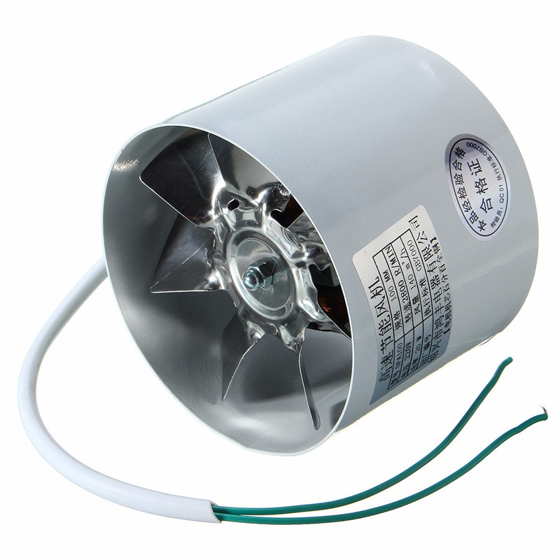 4 Inch Inline Ducting Fan  Metal 220V 20W  2800R/Min Duct Booster Vent Fan Exhaust Ventilation Duct Fan Accessories 10 x 7.5cm good quality 6 inline 240cfm duct booster exhaust ventilation blower fan 15mm for grow tent room