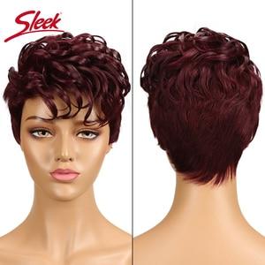 Image 1 - מלוטש ברזילאי רומנטיקה לארוג שיער טבעי פאות רמי לא תחרה מול שיער טבעי פאות לנשים שחורות Perruque Cheveux Humain
