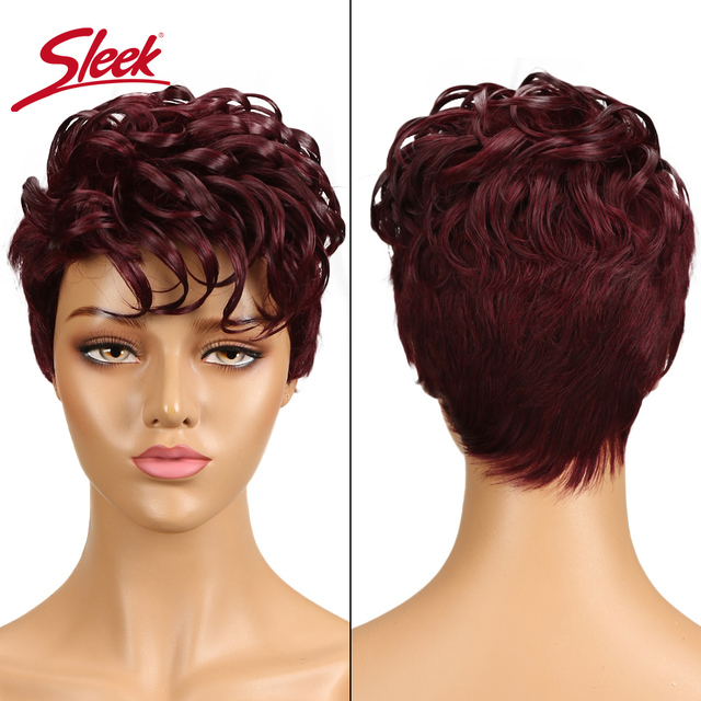 מלוטש ברזילאי רומנטיקה לארוג שיער טבעי פאות רמי לא תחרה מול שיער טבעי פאות לנשים שחורות Perruque Cheveux Humain