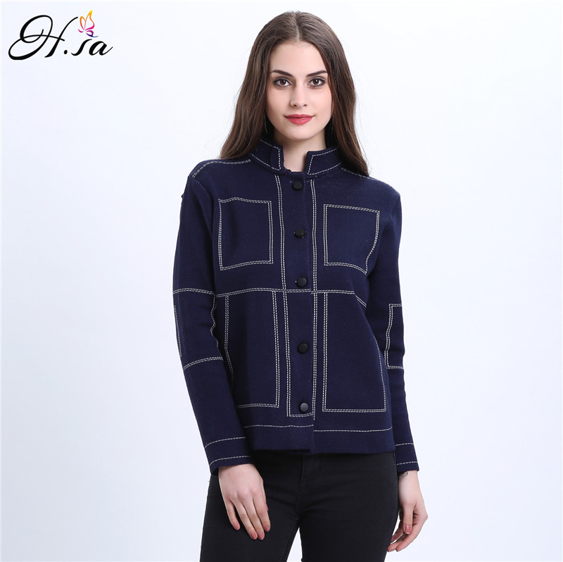 2016 Autumn Jeans Jacket Short Sweater Cardigans Button Black Blue Short Cardigans Long Sleeve Casual blusas de inverno