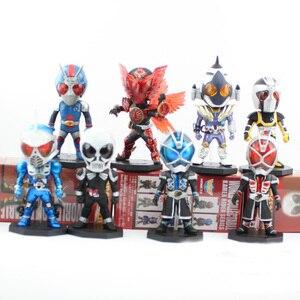 Image 1 - 8 pçs/lote 8cm 13th geração mascarado rider kamen rider animação figura de ação escritório mão pvc modelo brinquedos bonecas presente decoração