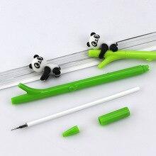 30 Pcs Korean Cute Cartoon Panda Plastic Neutral Pen Creative Bamboo Black Student Supplies