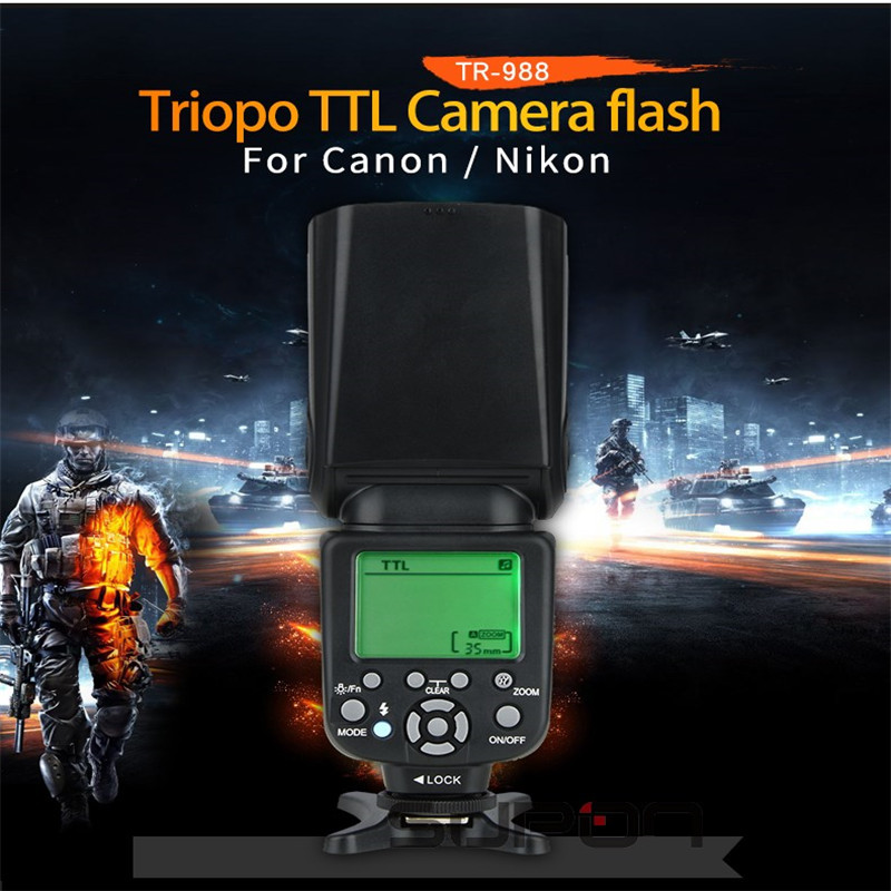 TR 988 The Flash Professional Speedlite TTL Camera Flash with High Speed Sync for Canon and
