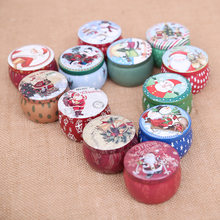 1Pcs Cartoon Christmas Candy Box Iron Storage Cans Cookies Packaging Boxes Coin Jewelry Sealed Jar New Year Home Party Supplies(China)
