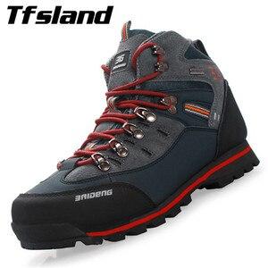 Men Waterproof Breathable Athletic Shoe Male Leather Trekking Outdoor Boot Men's Rock Climbing Sport Hiking Shoes Botas Sneakers