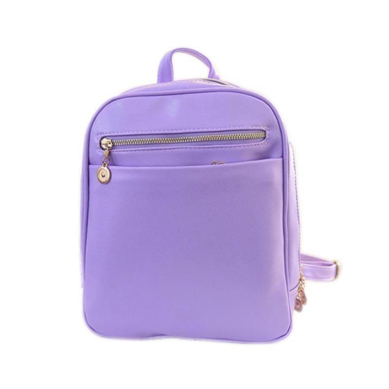 2016 Simple Women PU Leather Backpacks Large Girls Schoolbag Travel Bag Solid Candy Color Mochila Popular