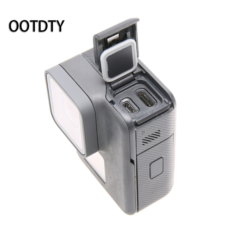 OOTDTY Camera Accessory Front/Side Door USB-C Micro-HDMI Port Cover Protector for GoPro Hero 5/6 Repair
