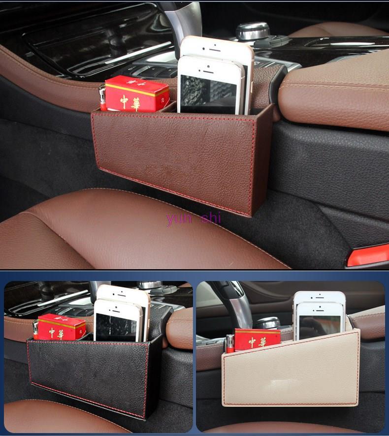 3 Color Leather Car Seat Slit Gap Pocket Storage Glove Box