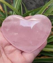 Natural bonito rosa quartzo cristal cura do coração