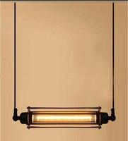 Kreative Industrie Retro Bar Lichter Edison Jahrgang Industrielle Pendelleuchte 1 licht Edison pendelleuchte Industrie Beleuchtung-in Pendelleuchten aus Licht & Beleuchtung bei