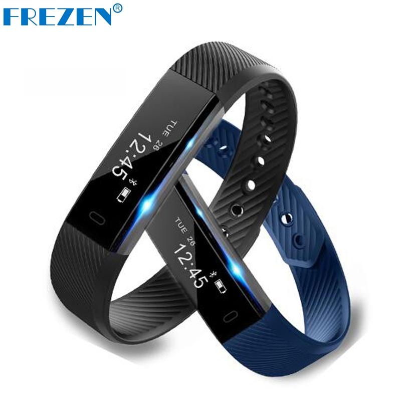 Smart Bracelet Band Wristband ID115 Fitness Tracker Step Counter Activity Monitor Alarm Clock Vibration OLED Smarband