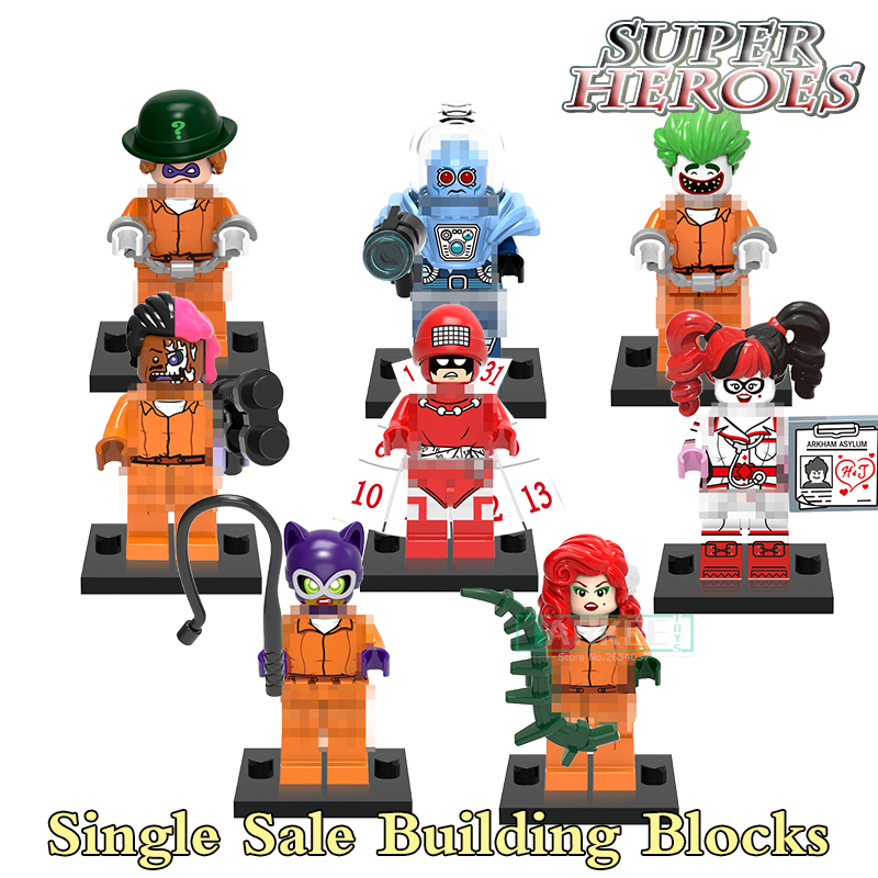 Single Super Hero Toy Batman Poison Ivy Mr. Freeze Calendar Man Harley Quinn Riddler Bui ...
