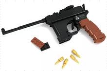 M1898 Military Series Pistol GUN Weapon Arms Model 1:1 3D 145pcs Model Brick Gun Building Block Set Toy Compatible With Legoe