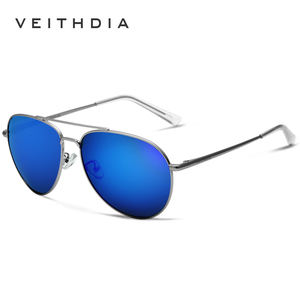 Image 2 - Veithdia unisex fashion sun glasses 편광 코팅 거울 선글라스 oculos de sol feminino 안경 남성용/여성용 2736